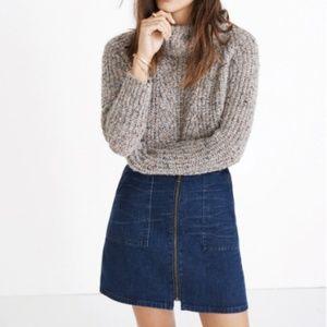 NWT Madewell Denim Utility Skirt